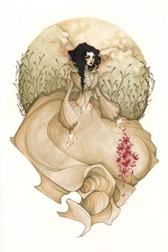 One of my favorite traditional artists on dA. Flowers Are My Life Blood by KmyeChan.deviantart.com on @deviantART
