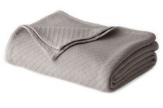 Cotton Thermal Blanket Twin Size Soft Warm Bedding Versatile Medium Weight Grey #CottonThermalBlankets #Contemporary