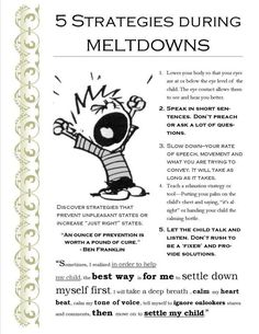 5 Strategies that Work for Me during our kid's Meltdowns