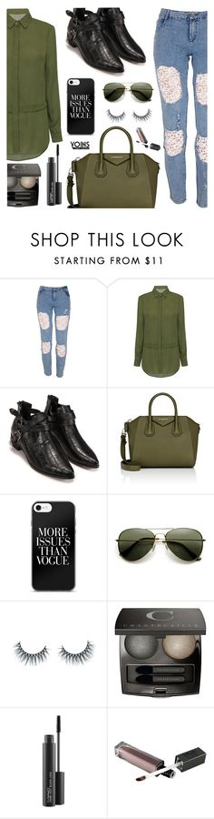 """""""Yoins"""" by dora04 ❤ liked on Polyvore featuring Givenchy, Unicorn Lashes, Chantecaille, MAC Cosmetics, winterboots, yoins, yoinscollection and loveyoins"""