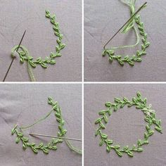 20 unique embroidery thread project ideas to challenge your creativity - Sticken Stiche - Embroidery Floss Projects, Embroidery Leaf, Embroidery Stitches Tutorial, Silk Ribbon Embroidery, Hand Embroidery Patterns, Embroidery Techniques, Simple Embroidery, Diy Embroidery Flowers, Embroidered Flowers