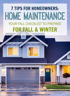 Fall Home Maintenance Checklist. I always forget to schedule our HVAC and fireplace before the seasonal rush, this is a great checklist to share with the hubby.