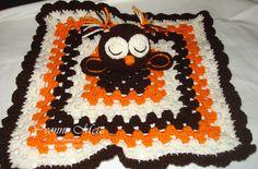 Crocheted Baby Owl Lovey or Security Blanket by KraftsbyYvonne, $30.00