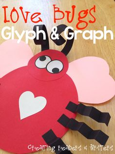 "This ""Love Bug"" GLYPH & GRAPH lesson is a fun way to incorporate art and math in your Valentine's Day activities!  (9 Pages, $)"