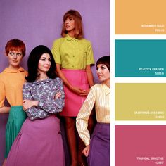 1967 | 16 Beautiful Color Palettes Inspired By Retro Fashion