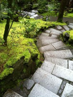 des marches de jardin en dalles pour un aménagement extérieur original