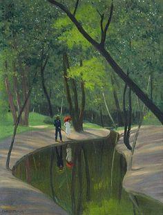 Felix Vallotton (Swiss 1865-1925) Forest of Boulogne (1919)