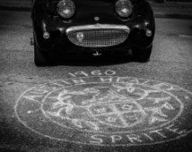Austin Healey Sprite, Photography, fine art Photography, Black and white, wall art, home décor, car photography, vintage, auto, gift, print,