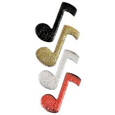 """12 inch tall Music Notes cut outs for music hemed Centerpieces. Made of durable 3/16"""" thick foam board. Choose from 18 cracked ice colors. www.awesomeevent.com"""