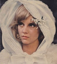 sylvie-vartan: Sylvie on her wedding day. Wedding Veils, Wedding Bride, Wedding Day, Flowers In The Attic, 1960s Wedding, Vintage Veils, Film Aesthetic, Female Singers, Historical Clothing