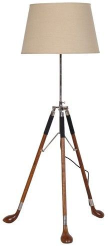 Golf Clubs Tripod Lamp