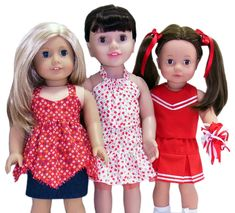 18 Inch American Girl Doll Clothes Patterns 3 Way Skirt Release   Rosies Doll Clothes Patterns
