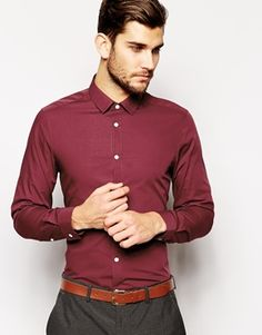 Mens Wine coloured shirt. Perfect to wear on New Years Eve.  #mens #christmas #gift #guide #shirt