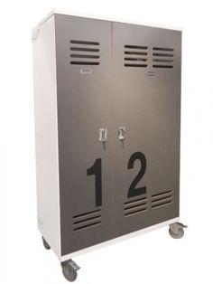 Armoire 2 portes en métal rouge - Lofter - Armoires à portes ...