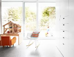 Baroque wood dollhouse in Kids Modern with Built In Armoires next to Armoire Decor alongside Modern Minimalist Interior and Minimalist Home Decor Minimalist Home Decor, Minimalist Interior, Modern Minimalist, White Kids Room, Modern Kids Furniture, Kid Spaces, Work Spaces, Home Decor Items, Colorful Interiors