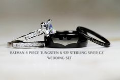 BATMAN Tungsten and 925 Sterling Silver 2.8 by Cloud9Tungsten