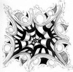Drawing Step By Step Zentangle Patterns Step By Step - Bing Images Zentangle Drawings, 3d Drawings, Doodles Zentangles, Zentangle Patterns, Doodle Drawings, Zentangle Animal, Tangle Doodle, Tangle Art, Zen Doodle