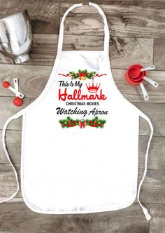 Hallmark Christmas Movies Watching Apron  # #Kitchen&Dining Free Shipping & 30 days Easy Return. #womensfashion