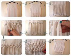 DIY knotted tank top. Cute over a bathing suit!