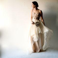 Wedding dress, Bohemian wedding dress, Blush wedding dress, Corset wedding dress, Romantic, Bohemian, Hippie, Alternative, wedding dress by larimeloom on Etsy https://www.etsy.com/listing/220075623/wedding-dress-bohemian-wedding-dress