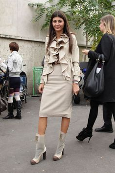 in Valentino with Fendi booties