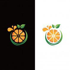 Logotipo de frutas frescas de laranja Ve. Fruit Logo, Typo Logo Design, Branding Design, Juice Logo, Orange Logo, Background Design Vector, Orange Fruit, Abstract Logo, Ink Pen Drawings