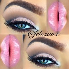 Love this candy pink coloured lip