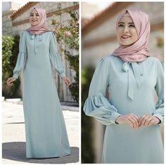 Shrink your URLs and get paid! Hijab Style Dress, Hijab Chic, Hijab Outfit, Abaya Mode, Mode Hijab, Abaya Designs, Abaya Fashion, Fashion Dresses, Hijab Stile