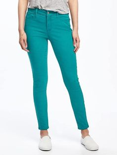 Mid-Rise Rockstar Pop-Color Ankle Jeans for Women $34.94