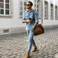 Jeans+Camel: the perfect composition for the casual but refined look #men…