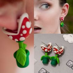 Clothing :: Accessories :: Super Mario Piranha Plant Earrings - Shut Up And Take My Money Store!