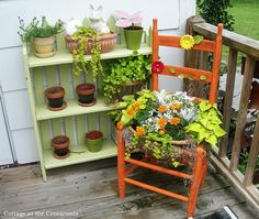 DIY chair planter! love this Idea filled with my mosquito repellent plants