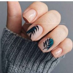 Discover new and inspirational nail art for your short nail designs. Summer Acrylic Nails, Cute Acrylic Nails, Cute Nails, Pretty Nails, Spring Nails, Minimalist Nails, Nail Manicure, Diy Nails, Nagellack Trends