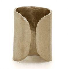 Artemisa Cuff Ring lll http://www.kendallconraddesign.com/store/women/jewelry/215-901 #brassring #brassjewelry
