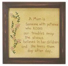 Stitchery - A Mom Is : STICHERY : Primitives by Kathy