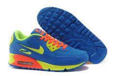 Air Max 90 Women's Shoe Blue / Orange / Volt