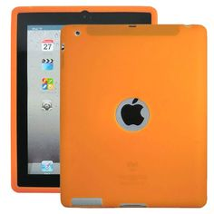 Soft Shell Logo (Orange) Cover til iPad 3 / iPad 4