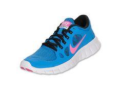 Nike Free Run 5 Running Shoes Distance Blue Pink Fol Black