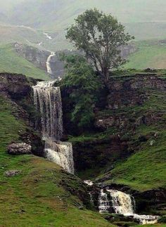 Gill Waterfall, Cray near Skipton, North Yorkshire, UK. Cray above Wharfedale in the Yorkshire Dales, North Yorkshire, England. It is near Buckden and the River Wharfe. It is a very popular walking area and is renowned for several waterfalls known collectively as Cray Waterfalls. By Tom Dawson, Flicker