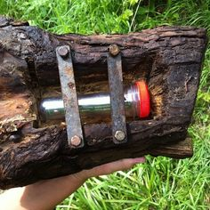 Cool wood camo with a #geocache tucked underneath.