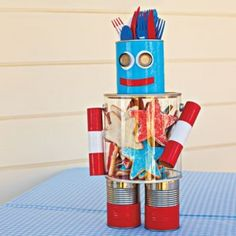 Americana Robot. Filled with candy, like a candy machine.