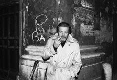 Portrait of Marcello Mastroianni by Harry Benson, Rome, 1987