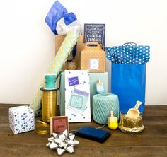 Hanukkah gift wrapping station
