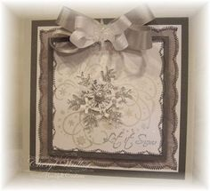 Click to Zoom: Silver Snowflake Card 2