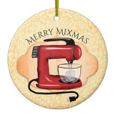 Retro stand mixer baking Christmas ornament - retro gifts style cyo diy special idea