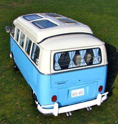 Panoramic View: Beautiful '64 VW 13-Window Bus with Dormobile Top   RodAuthority