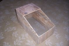 There are many types of rabbit nest boxes out there. We have tried a few with varied results and have settled on this design. It works very well for our heritage breed rabbits. Rabbit Nesting Box, Nesting Boxes, Rabbit Farm, Rabbit Colors, Raising Rabbits, Nest Box, Genetics, Homesteading, Lawn