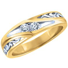 Ben Moss Jewellers Two Souls Collection.  Ladies', 0.15 Carat TW, 10k Gold  Diamond Wedding Band... so pretty!