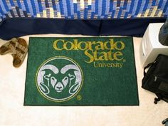 Colorado State CSU Rams Starter Rug/Carpet Welcome/Door Mat Maybe Gift for Justin/Frat house?