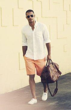 Best Mens Summer Casual Short Outfits 07 - clothme.net